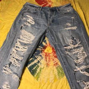 High rise girlfriend American Eagle jeans